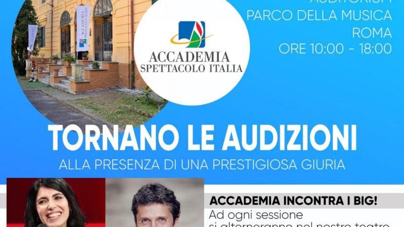 SABATO 11 SETTEMBRE A ROMA AVRANNO LUOGO LE AUDIZIONI PER IL NUOVO ANNO ACCADEMICO DI  ACCADEMIA SPETTACOLO ITALIA