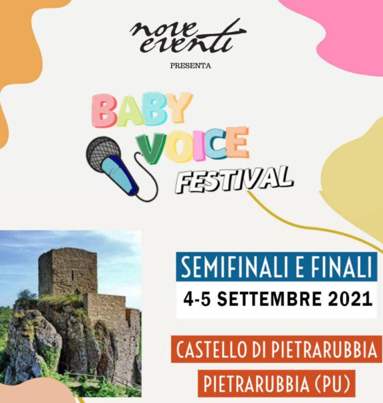 DOMENICA 5 SETTEMBRE SI TERRÀ A PIETRARUBBIA LA FINALISSIMA DEL  FESTIVAL BABY VOICE