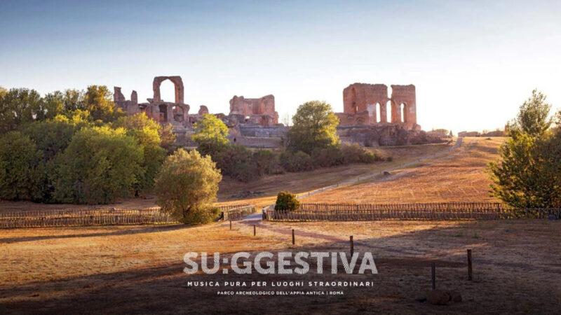Su:ggestiva fino al 24 ottobre 2021 nel Parco Archeologico dell'Appia Antica di Roma: Khalab., Raia, Fiorito, Giampace.